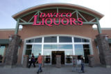 Shoppers find any and all they need at Daveco Liquor store in Thornton, Colorado Wednesday ,...