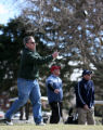 James Gallaher, cq of Denver tees off the 6th tee box  Monday Feb. 26, 2007 at the City Park golf...