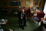 Robert Keeler (cq) talks with family members at his home in Longmont, Colo., on Tuesday, Feb. 13,...