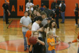 During halftime of Flagler's home game against the Otis Bulldogs on Saturday, Feb. 10, 2007, fans...