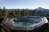 JPM009 - Hot tub with view south east on Feb. 21, 2007. Alice Starek is a Princeton-trained...