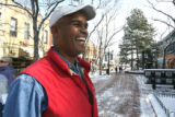 Paul Hester (cq),56, stands  on the Pearl Street Mall in Boulder Thursday February 15,2007. Hester...