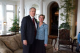 Gov. Bill Ritter (cq) and  First Lady Jeannie Ritter (cq) in the Governor's Mansion on Monday...