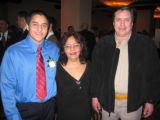 Honoree Antonio Cano, with his parents, Juanita and Maunuel Cano. (DAHLIA JEAN WEINSTEIN/ROCKY...