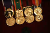 This is one set of medals that Maj. Steve Beck (cq) presented to members of 2nd Lt. Jim Cathey's...