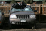 The Jeep of James Abramo, sits behind a Shell station Tuesday afternoon, February 20, 2007, in...