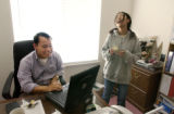 Aurora, Co.  November 19, 2003.   Setan Lee's daughter, Sandra, 14, shows her delight with the...