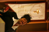 "Lequita J. Taylor, with Taylor Funeral and Cremation Services, sings ""The Wind Beneath my..."