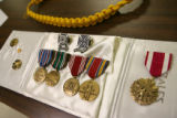 A display of military service medals Congresswoman Marilyn Musgrave (CO-04) presented World War II...