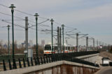 A train approaches the Englewood Fastracks station, Sunday morning February 25, 2007. This...