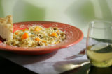 Andalusian Pasta, with browned butter sauce, butternut squash, green olives, cannellini beans,...