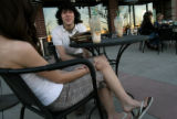 MJM213 Anthony Loose (cq), 18, center, of Boulder hangs out with friend, Ashley Alfaro (cq), 18,...