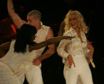 "JOE068 Christina Aguilera performs ""Back in the Day"" during her Back to Basics tour's..."
