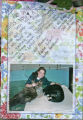 A photograph and letter left at the memorial for Denver zoo keeper Ashlee Pfaff, who was killed by...