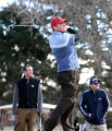 Mark Milligan, cq of Denver tees off the 6th tee box  Monday Feb. 26, 2007 at the City Park golf...