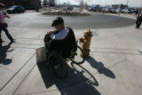 Psalm Shaw (cq) an art student at Metro State College, left disabled after a traffic accident,...
