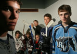 (from left - front row) All-Colorado-Hockey team Brandon Williams (Air Academy) from Colorado...