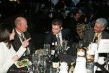 Goalie Peter Budaj entertains guests at his dinner table.  (MICHAEL MARTIN/SPECIAL TO THE NEWS)...