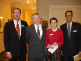 MHAC board members, from left, Tribute Dinner co-chairman Paul Mesard, Phil Dispense, Ruth Silver...