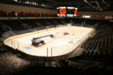 The ice is down for the hockey team in the events center. The Broomfield Event Center, off highway...