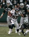 (BG0416} Denver Broncos Davis Kircus runs down field against the Oakland Raiders in the first...