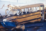 Historical photo of the school bus crash that killed 20 children near Greeley, Colo., on Dec. 14,...