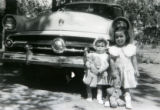 Historical photo of April Freeman (cq), left and Joy Freeman (cq), right. April, Joy and their...