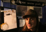 Michael Coors sets up his display for Eclipse Snow Park near St. Mary's Glacier, tentatively to...