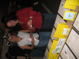 Carol Schwendener, left, and Lexie Weintraub peruse the silent auction items at the ASCENT...