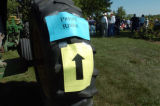 (8/06/2004, GOLDEN, CO)    The press were guided into their perspective areas by signs posted on...