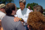 (8/06/2004, GOLDEN, CO)    John Kerry speaks to supporters at The Nelson Farm in Smithville, MO....