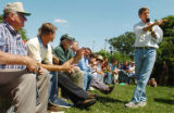 (8/06/2004, GOLDEN, CO)    John Kerry addresses questions during a meeting with people living in...