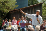 (8/06/2004, GOLDEN, CO)    John Kerry addresses a crowd of people at The Nelson Farm in...