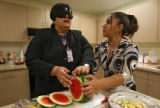 (DLM0802) -  Ana Zambrano, an instructor at the Colorado Center for the Blind, instructs Guadalupe...
