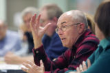 Alan Maitland from New Castle, expresses his frustration of during a meeting of the GVCA, Grand...
