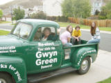 One of Rep. Gwyn Green's constituents likes her so much he painted his 1957 Chevy truck green and...