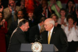 Vice President Dick Cheney presides over a fundraiser for 5th Congressional District candidate...