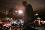 5th Congressional District candidate Doug Lamborn leaves the stage after Vice President Dick...