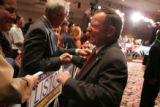 5th Congressional District candidate Doug Lamborn greets supporters after Vice President Dick...