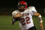 (DLM3293) -  Fairview senior running back Arthur Jaffee sprints for a touch down in the first half...
