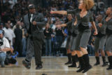 (JPM0337) Rapper MC Hammer performs during half time of the Denver Nuggets Minnesota Timberwolves...