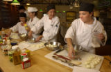 (Denver, Colo., August 17, 2004) Chefs make deviled eggs at Cook Street School of Fine Cooking at...