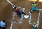 NYT7 - (NYT7) ATHENS, Greece -- August 23, 2004 -- OLY-SOFTBALL -- Lisa Fernandez of the U.S....