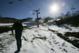 Auden Schendler (cq) , Director of Envionmental Affairs for Aspen Skiing Company, walks near the...