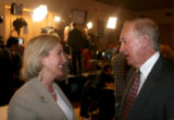 (Denver, Colo., November 7, 2006) Fances Owens speaks with Jeff Wells (former state Senator,...