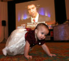 (Denver, Colo., November 7, 2006) Abigail Rivera, 18 mos., has space to crawl in front of the big...