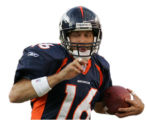 (JPM175) Denver Broncos Jake Plummer, #16, scrambles away from Indianapolis Colts Anthony...