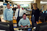 (10) Activity in the Rocky Mountain News newsroom related to a live video web broadcast during...