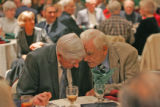 Pat Finnegan, left, (Cq), and Stan Lesker (Cq), talk together during the 59th Annual Golden...