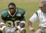 Ft. Collins, Colo., photo taken August 9, 2004- Colorado State football head coach, Sonny Lubick...